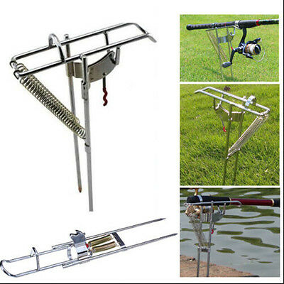 Stainless Steel Automatic Tip-Up Hook Fishing Rod Holder Setter Stand Bracket