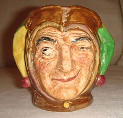 "Royal Doulton Small Character Jug Toby ""Jester' D5556 Retired 1960. Lovely."