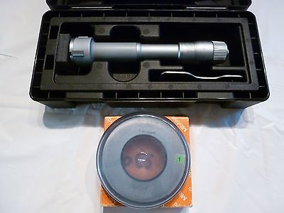 MITUTOYO 368-768 HOLTEST INTERNAL MICROMETER 30-40MM  with setting ring