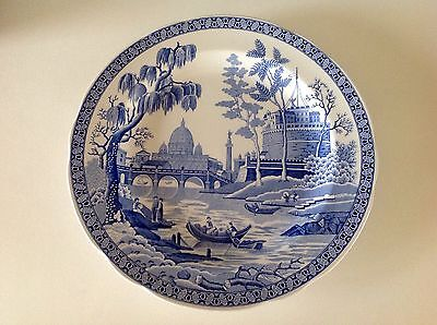 """Vintage Spode The Blue Room Collection Large  Plate """"Rome"""""""