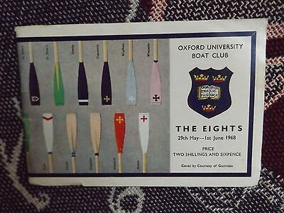 1968 Oxford University Boat Club Programme - The Eights