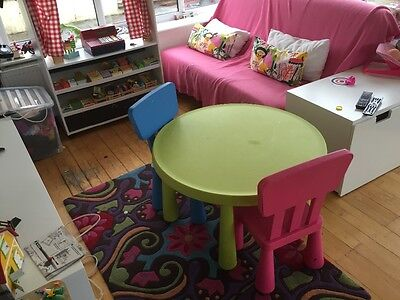 ikea childrens table and chairs set