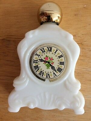 Vintage Avon Field Flowers Cologne Perfume Clock Bottle
