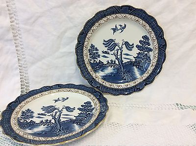 Booths Real Old Willow Two Entree Plates (21cm)
