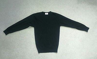 CHARLS KIRK black jumper V-neck top