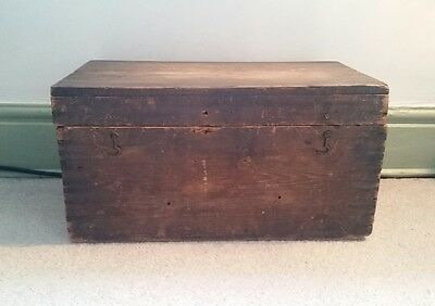 VINTAGE ANTIQUE French Solid Wooden Box- Storage- Mantique- Mancave- Display