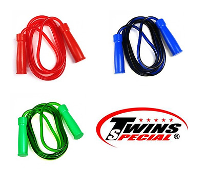 Twins Skipping Rope - BLUE - Heavy Muay Thai Boxing MMA Training - Brand new
