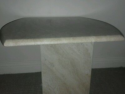 Solid marble lamp table x 2