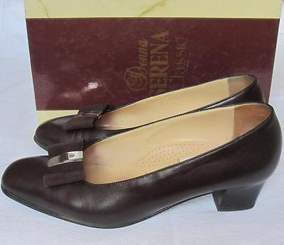 Donna Serena, Scarpe N.38 In Pelle, Decollete Colore Marrone Scuro