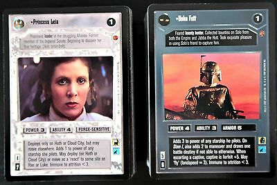 STAR WARS CCG - Complete CLOUD CITY SET (180 Cards / Limited Edition BB) [1997]