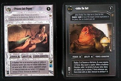 STAR WARS CCG- Complete JABBA'S PALACE SET (180 Cards / Limited Edition BB) USED