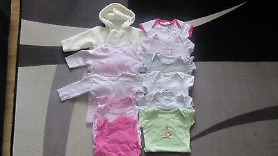Bundle of vests/sleepsuits/bodysuits/baby girl/0-3 months-12 ITEMS!