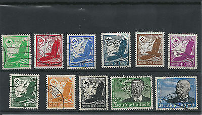 """#37 Postage Stamp Germany Airmail 1936 o  """"Eagle and globe"""" - USED"""