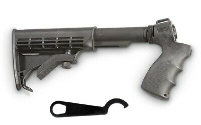 Adjustable Tactical Stock & Grip W/Free Wrench For Mossberg 500 &  Maverick 88