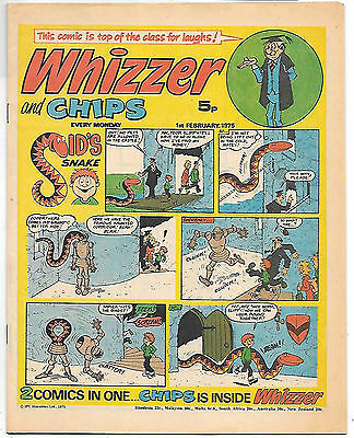 Whizzer and Chips 1 Feb 1975 (top grade) Sid's Snake, Odd-Ball, Shiner, Loser...
