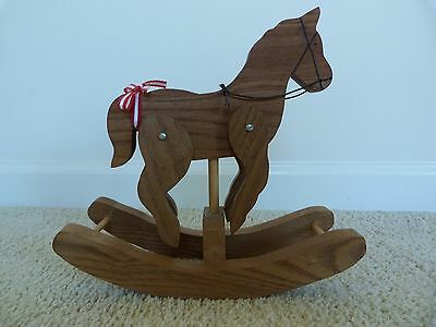 MINT!!! Wooden Rocking Horse