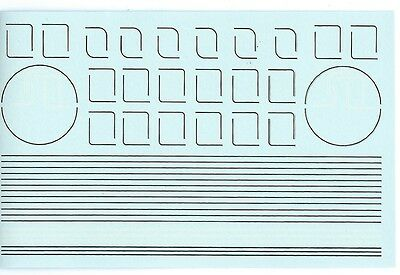 Modelmaster 4083 White / Black Lining Decals / Transfers For Lner Green Locos