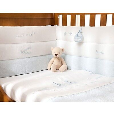 Silver Cross Luxury Cot Bumper - Vintage Blue