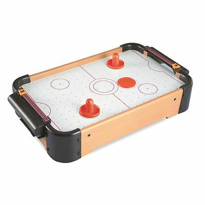 Mini Wood Table Top Air Hockey Game Blower Pushers Pucks Sport Toy 48x36x46cm