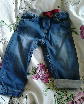 Nutmeg Boys Lined Jeans Age 9-12 Months
