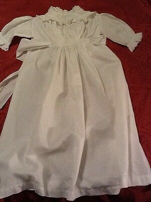 vintage Christening robe for infant, cotton, decortive