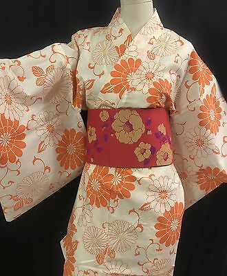 浴衣 Yukata japonais - Orange - Import direct Japon 1421