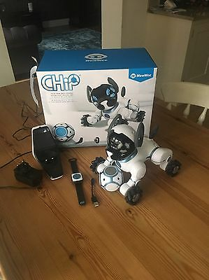 Used Once WOWWEE CHIP ROBOT TOY DOG - WHITE