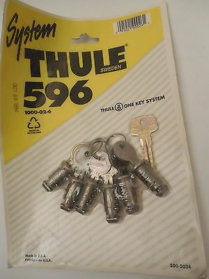 THULE 596 System 6-Pack One Key Lock Cylinders NEW SEALED PACKAGE