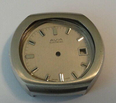 Vintage Avia Electronic Watch Dial & Case (watch parts) (NOS)