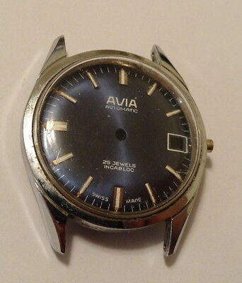 Vintage Avia Watch Dial & Case