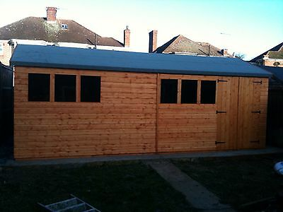 18x10 Heavy Duty shed/Workshop 13mm Redwood 3x2cls