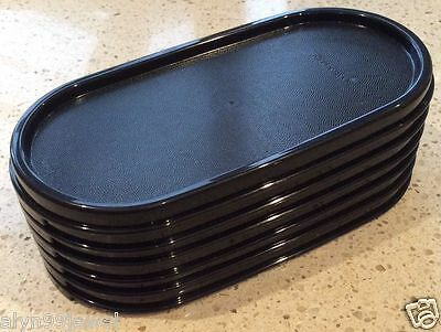 TUPPERWARE Modular Mates OVAL SEALS BLACK NEW 4 PIECES FREE SHIPPING