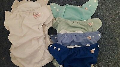 reusable nappies, wipes and wash bags - used