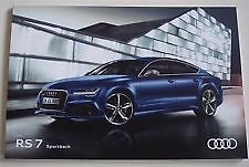 the Audi  RS7 and the RS 7 Sportback  October 2016 Sales Brochure new  bargain