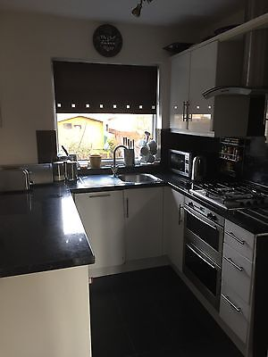 8 Kitchen White Gloss Doors, 3 Slimline Drawer Fronts With Handles Was £80