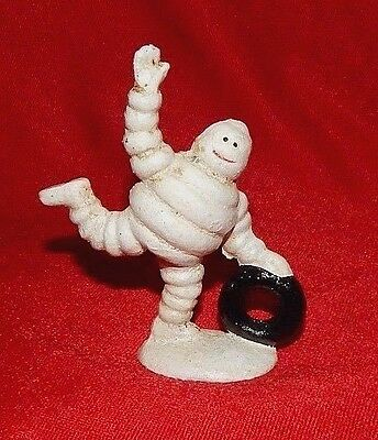 MICHELIN TIRE MAN  FIGURINE ROLLING TIRE Cast Iron Collectible Promo