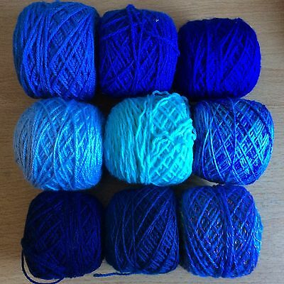 Over 250g Bundle Wool Blue/Turquoise Bag, Double Knit Knitting/Crochet/Craft