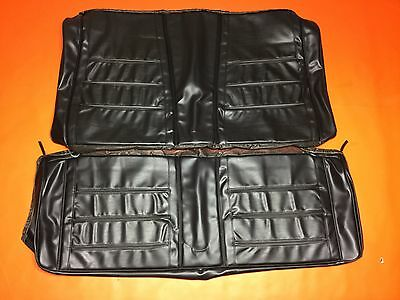 1968 Dodge Charger Seat Covers Black Dk Gray Rear Cover SE RT Upholstery Vinyl
