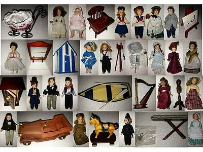 """PORCELAIN DOLLS and ACCESSORIES, 6"""" (doll), NEW, 2001"""