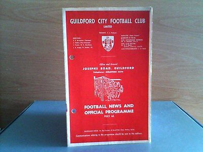 GUILDFORD CITY v HEREFORD UNITED (SOUTHERN LEAGUE) 1966.7