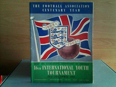 16th INTERNATIONAL YOUTH TOURNAMENT in ENGLAND 1963
