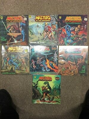 Vintage MASTERS OF THE UNIVERSE MOTU He Man Golden Books lot of 7 1980s