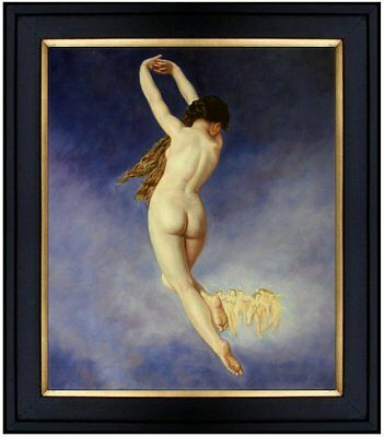 Framed,  Hand Painted Oil Painting Repro Bouguereau The Lost Pleiad, 20x24in