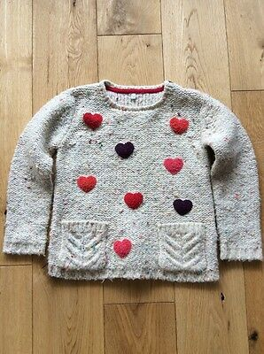 Girls Jumper With Hearts Age 4-5