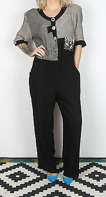 Jumpsuit UK 16 XL approx. 1980's Patterned 80's All in one  (L3D)