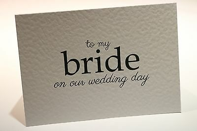 Weddng Day Cards- Bride Groom Parents Mum Dad Brother Sister Mother Grandparents