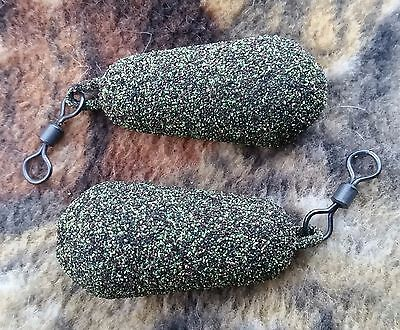 20 x GRIFFIN 3oz DUMPY DISTANCE  CAMO WEED GREEN  CARP LEADS. JOB LOT. NEW !!