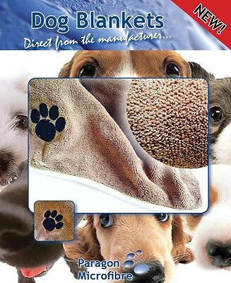 Microfibre Dog Blanket,60x90cm or 90x120cm Soft Dog Blanket - Bed.