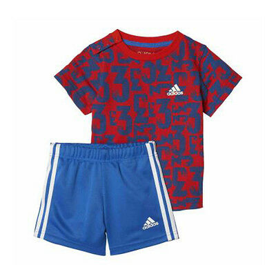 New Adidas Infant Boys Kit T-Shirt and Shorts Matching Set  Age 18mth to 4 Year