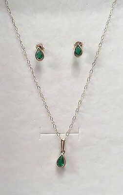 Fine 9ct Gold Necklace With Matching Earrings